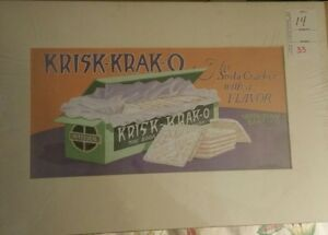 Original Advertising Design Krisk-Krak-O Soda Cracker Inter-State Baking Arentz
