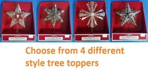 CHRISTMAS HOLIDAY TIME CAPIZ TREE TOPPER BEAUTIFUL HANDCRAFTED GLASS OYSTER NEW