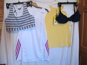 CHAMPION SPORTS BRA - Womens ADIDAS SPORT SHIRT- T-Shirt -Sz: XL- LOT of 4 - NWT