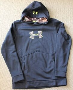 Under Armour XL YXL Sweatshirt Hoodie Camouflage Fleece Camo FREE NWT Boy's $55