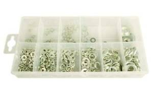 350pc Lock & Flat Washer Assortment Stainless Steel Spring  Split Nuts Bolt NEW