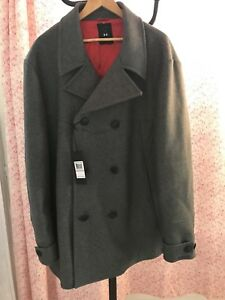 NWT Men's Dress Over Coat Italy Under Armour 3XL $1200.00 Wool Cashmere Jacket