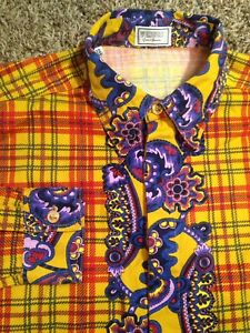 Mens Rare Vintage Designer Gianni Versace Multicolor Limited Edition Shirt 32/46