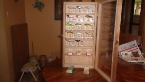 Vintage Heddon Baby Zara Lures with Display Case