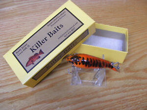 Killer Baits Rusty Jessee Heddon Style Glasseye Tadpolly in Tiger Musky Color