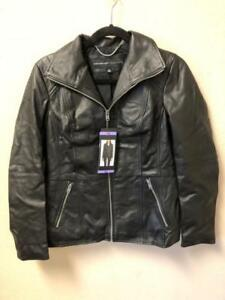 NEW! Andrew Marc Women's Black Leather Jacket Variety in Size