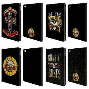 OFFICIAL GUNS N' ROSES KEY ART LEATHER BOOK WALLET CASE COVER FOR APPLE iPAD