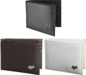 Fox Racing Bifold Leather Wallet - MX ATV MTB Credit Card ID Money Holder Mens