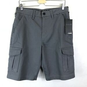 Hurley Nike DRI-FIT Cargo Shorts Size 31 Men's Gray Breathable Comfort $70.00