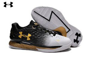Men'sWomen's Under Armour UA Stephen Curry One MVP Low Basketball Shoes BlackW