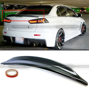 For 08-15 Lancer EVO X 10 Carbon Painted RS Style Rear Duck Trunk Wing Spoiler
