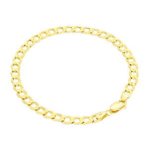 10K Yellow Gold 5.5mm Cuban Curb Chain Bracelet Lobster Clasp Men Women 7