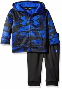 Under Armour Baby Boys Outfit  Full Zip Hoodie Jacket & Jogger Pants Sz 24M NWT