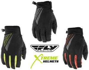 Fly Racing Title Gloves Cold Weather Touch Screen Short Cuff Youth L, XS-3XL