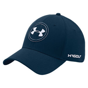 NEW Under Armour Heat Gear Jordan Spieth Logo Tour 2.0 Navy Fitted SM Golf Hat