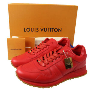LOUIS VUITTON Supreme LV Logos Sport Sneakers Shoes Red Italy Authentic #B496 M