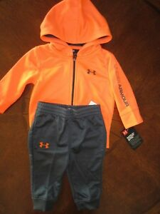 Under Armour Baby BoysGirls Outfit Full Zip Hoodie & Jogger Pants Sz 36 M NWT