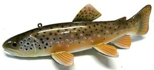 EXCEPTIONAL KERRY WOLGAST BROWN TROUT~FISH SPEARING DECOY~ICE FISHING LURE