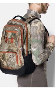 under Armour UA Camo Hustle Backpack One Size Fits All Realtree AP-Xtra Camo