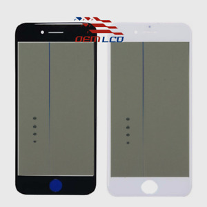Front Outer Glass with Frame Bezel OCA Polarizer for iPhone 8 8 Plus Cold Press