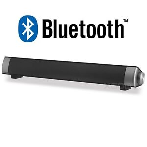 Wireless Bluetooth 3.5mm AUX Stereo TV Audio Music Speaker Built-in Subwoofer