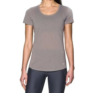 (Small Grey) - Under Armour Streaker running T-Shirt-Short Sleeve-Women