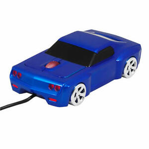 Street Mouse Bullet V8 Car Wired Computer Mouse - Blue