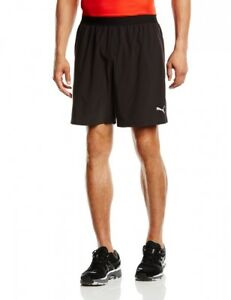 (Large Black) - Puma Men's Running Core 18cm Shorts. Delivery is Free