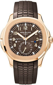 Patek Philippe 5164R-001 Aquanaut Dual Time Extra Large 18kt Rose Gold On Strap