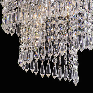 DIy Clear Acrylic Crystal Bead Garland Chandelier Hanging Wedding Supplies WV220