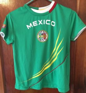 Boys Simply For Sports Mexico Soccer Shirt Size Small (8)
