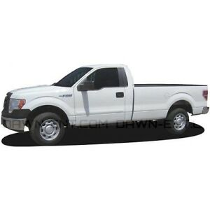 Dawn Painted Body Side Molding for 2009-2014 Ford-150 in Ingot Silver Metallic