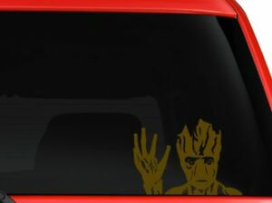 Groot Guardians of Galaxy waving Movie character car truck laptop decal sticker