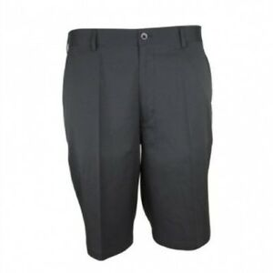 (Black 40) - Woodworm DryFit Flat Front Golf Shorts. Delivery is Free