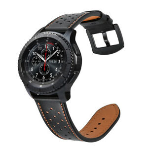 Genuine Leather Strap Wrist Bands for Gear S3 Frontier Classic/Galaxy Watch 46mm