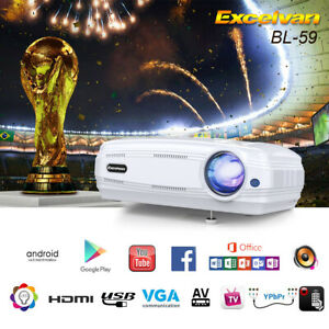 Excelvan BL-59 6400 Lumen 1080P 3D Wi-Fi Android 6.0 LED Projector Home Theater