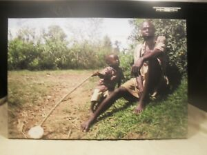 African Art Lithograph of Father and Son Natives #3 $9.99