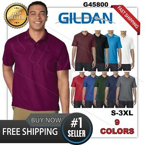 NEW Gildan DryBlend Mens Polo Sport golf Shirt Jersey T-Shirt 45800  Size S-3XL