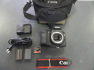 EUC Canon EOS 50D 15.1MP Digital SLR Camera -body 2 batteries w charger bag