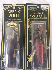 MEGABASS JAPAN LURES 2 DEEP-X 200T DIVING  NEW IN PACKAGING RARE COLOURS