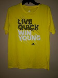 2 Brand New Adidas shirts without TAGS. Neon Yellow and Grey size L. $15.00