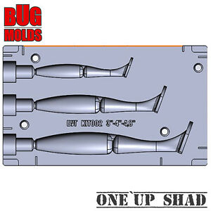 Soft Plastic Lure Bait Mold DIY Do It One'Up Shad Fishing Mold