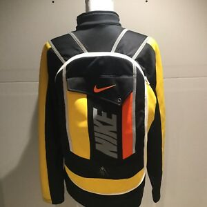 NIKE ONE OF KIND RARE JACKET WITH ATTACHED SLIM BACKPACK REFLECTIVE RUNNING MED