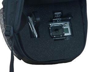 Backpack camera case for GoPro HERO - Black & Blue