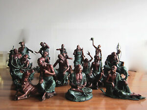 18 monk a set Sculpture Temple bronze GIFT Decoration :Eighteen Rohan 十八罗汉