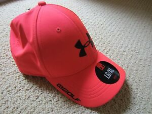 UNISEX MENS CORAL UNDER ARMOUR GOLF BASEBALL CAP HAT LARGEXLARGE NWT COMFY