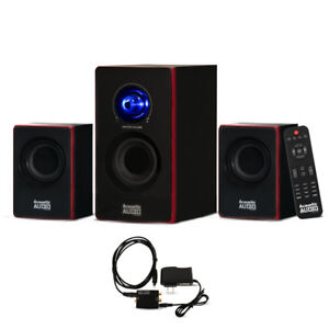 Acoustic Audio Bluetooth Home 2.1 Speaker System w Digital Optical Input for TV