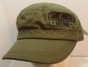Lake Powell Arizona Hat Cap Cadet Military Flat Top Style USA Embroidery New