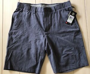 NWT Men Under Armour Punch ShotVented Golf Shorts 34 Gray New DressCasual