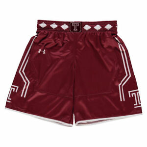 Under Armour Temple Owls Youth Cardinal Replica Basketball Shorts - College